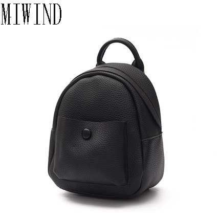 New 2017 Classic Women Backpack Bag Preppy Style School Bags Mini PU Leather Backpacks Leisure Small Travel Bag TKY518 2017 new korean man pu leather backpack male new style junior middle school students leisure travel backpack fashion bag