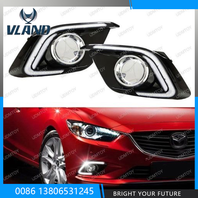 12V Daytime Running Light Kit For Mazda 3 Axela 2014-2016 Car Highlight Day Driving Lights
