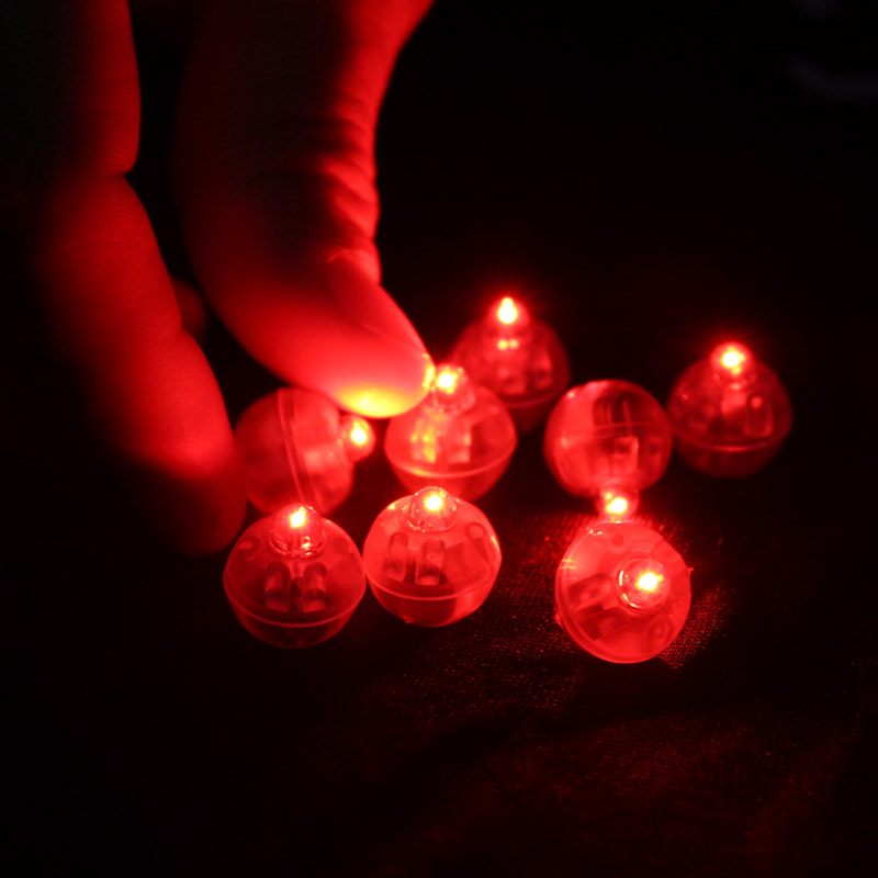 50 pcslot red round led ball lamps balloon lights for lantern christmas wedding party