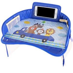 Image 2 - 車のベビーシートテーブルポータブル多機能漫画ベビー子供子供車の安全座椅子トレイのおもちゃ食品ドリンク携帯電話ホルダー