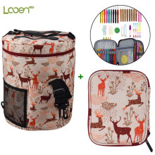 Looen Crochet Hooks Set With Yarn Storage Bag Cute Animal Giraffe Crochet Bag With Knitting Needles Empty Yarn Bag Sewing Tools looen crochet hooks set with empty yarn storage bag sewing tools cut animal knitting needles diy needle arts craft with case