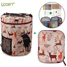 Looen Crochet Hooks Set With Yarn Storage Bag Cute Animal Giraffe Knitting Needles Empty Sewing Tools