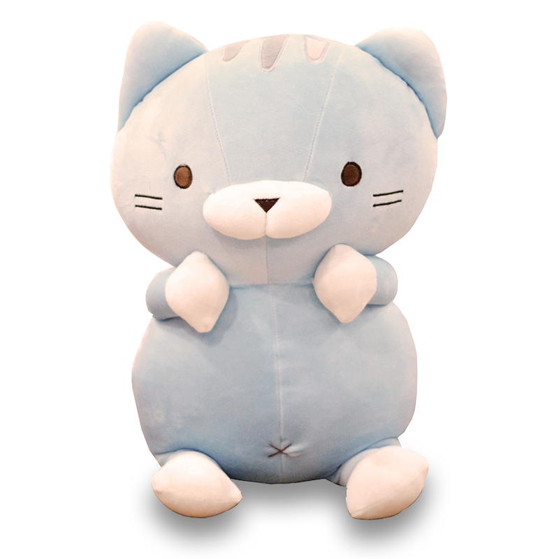big plush cartoon cat toy lovely blue cat doll pillow gift about 75cm the huge lovely hippo toy plush doll cartoon hippo doll gift toy about 160cm pink