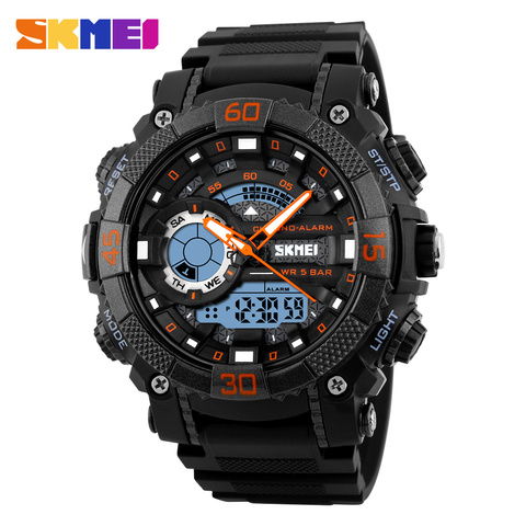 Mens Watches Top Brand Luxury Military Watches LED Digital analog Quartz Watch Men Sports Watches Waterproof Relogio Masculino Lahore