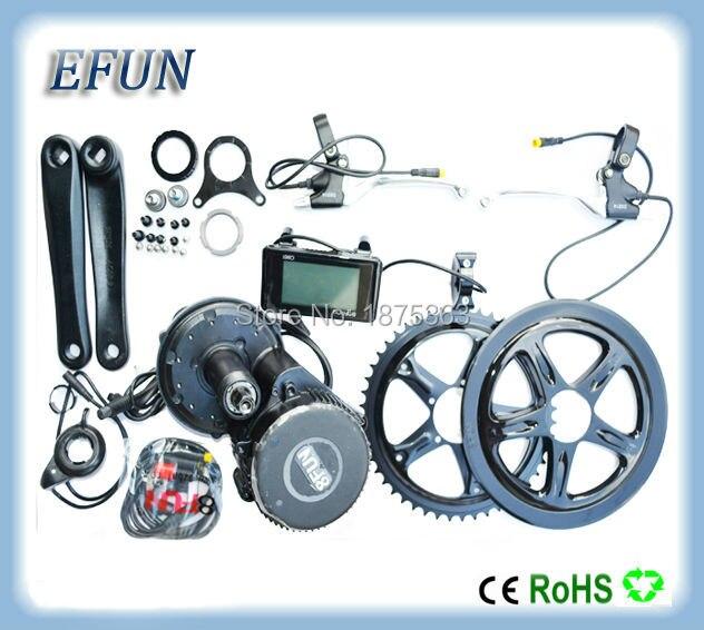Free shipping 48V 500W 8fun/bafang motor C961/C965 LCD BBS02 latest controller crank Motor eletric bicycles trike ebike kits
