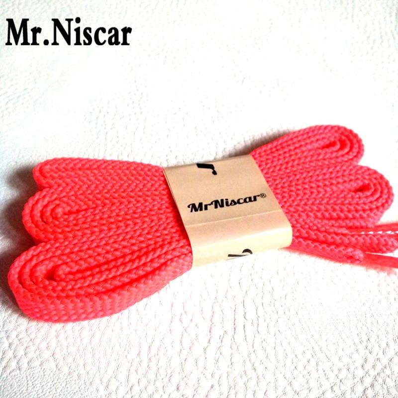 Mr.Niscar 5 Pair Hot Sale Fashion Men Women Polyester Sneaker  Flat Shoelaces Solid Color Fluorescent Red Shoe Laces String hot sale cotton solid men tank top