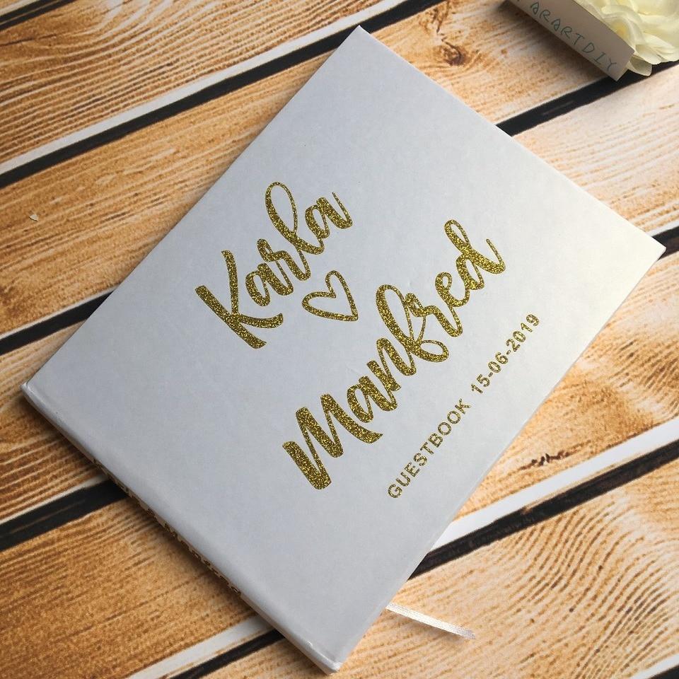Personalized glitter gold silver Wedding Journal Unique Wedding ...