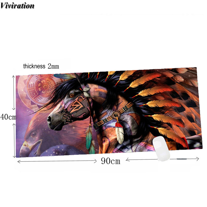Viviration Popular Rubber Gaming Mouse Pad Mat 900x400mm Large Size Anti-slip Computer PC Keyboard Table Mouse Mat Pad