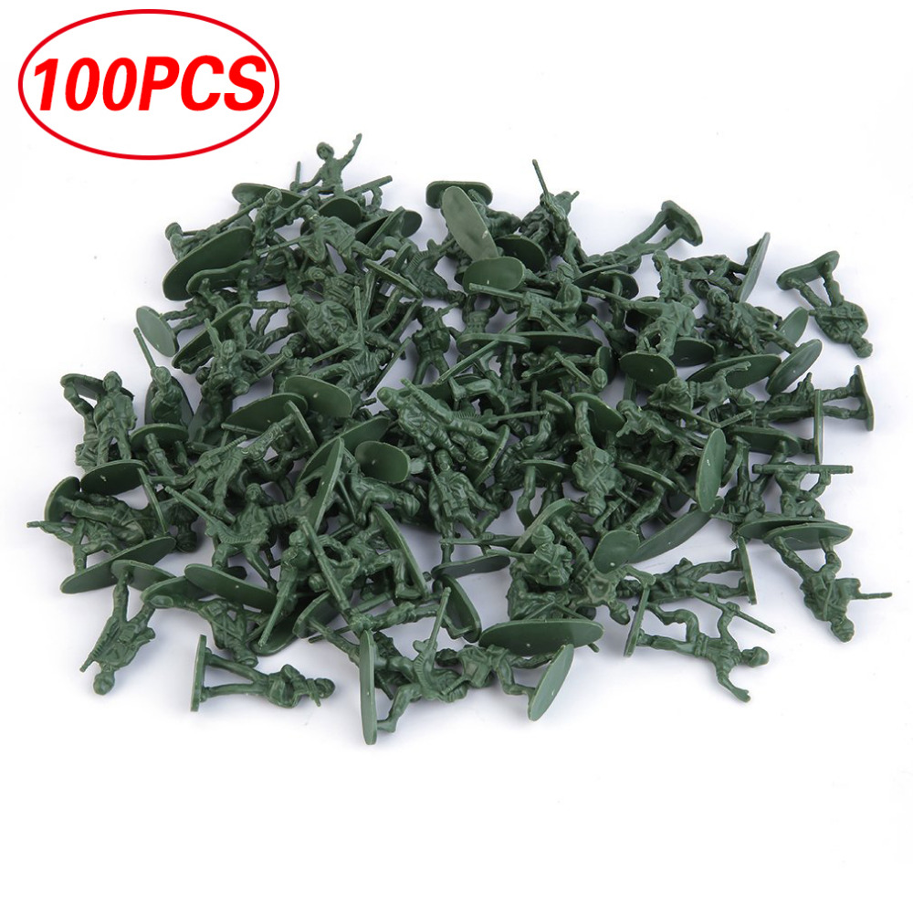 HOT 100pcs/<font><b>Pack</b></font> Military <font><b>Plastic</b></font> <font><b>Action</b></font> <font><b>Figure</b></font> Toy Soldiers Army 12 Poses Durable Toys Collection Good for Intelligence