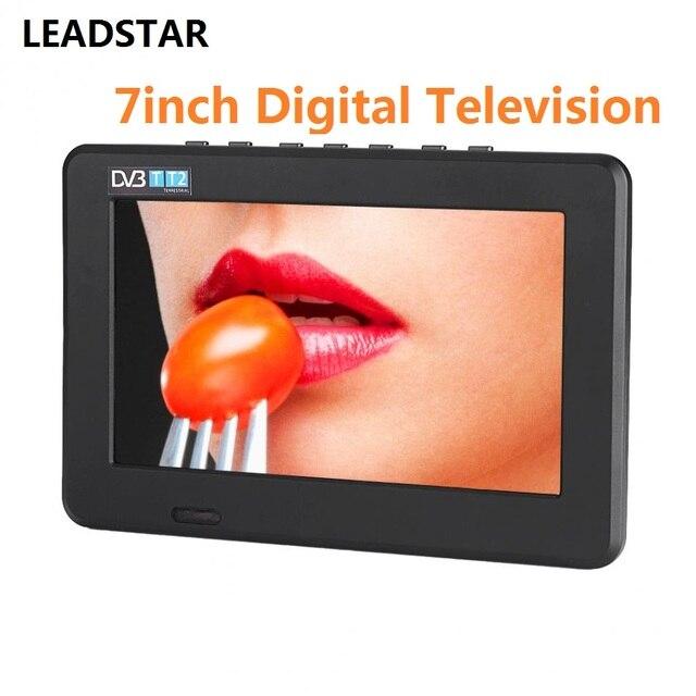 LEADSTAR 7 inch DVB-T2 Kỹ Thuật Số Truyền Hình Analog TV 800x480 Độ Phân Giải Cao Hỗ Trợ Thẻ TF USB Âm Thanh