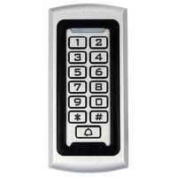Waterproof Metal Case SIB RFID Proximity 125Khz EM ID With Luminous Keypad Anti Vandal Access Control
