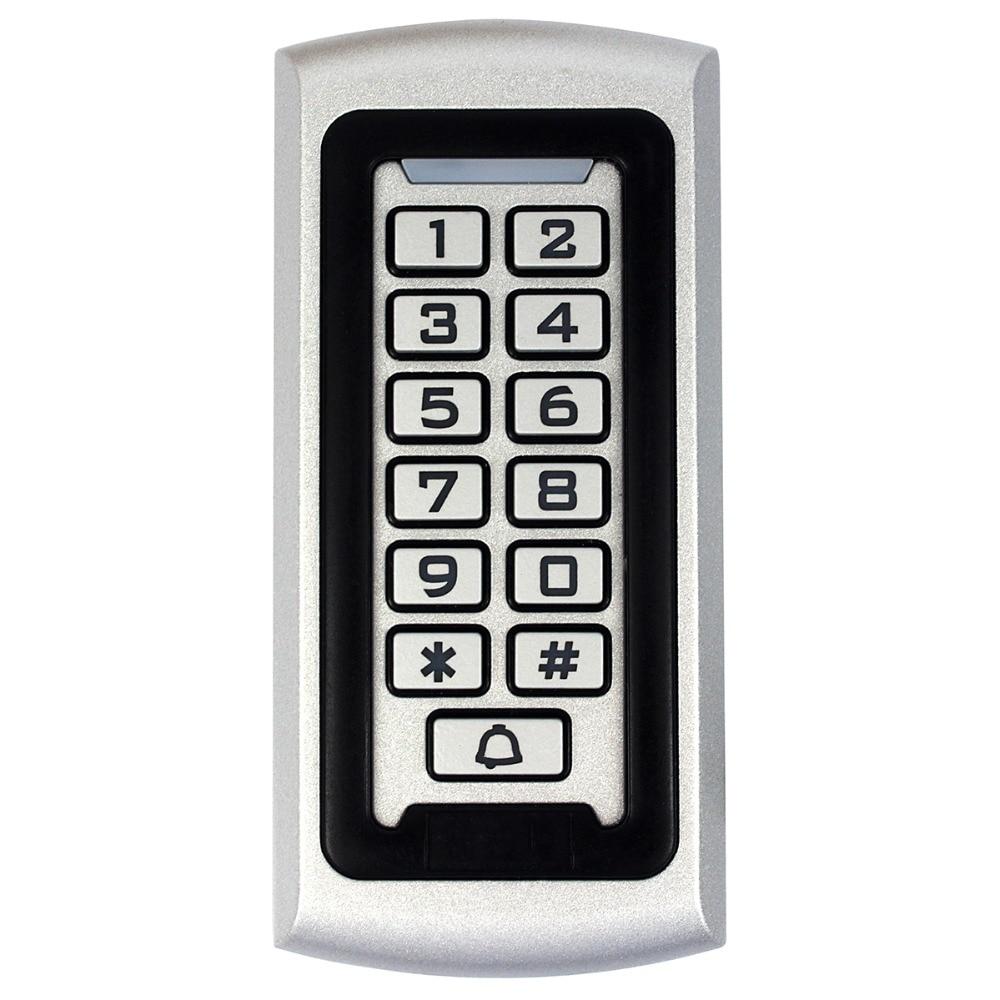 RFID Proximity 125Khz EM ID Access Control Luminous Keypad&Anti-vandal Access Control System Waterproof Metal Case F1212D