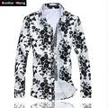 Plus the size 5XL 6XL shirt men Fashion Floral Long Sleeve Shirt Fall Male Casual Shirt Cotton Printed Hawaiian Shirts Hot Sale