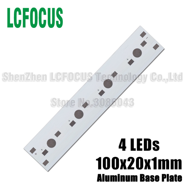 10pcs LED Rectangle aluminium base plate 4W 8W 12W 20W 24W high power radiator Use for 1W 3W 5W LED Lamp chip White PCB Board