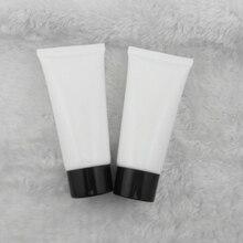 50 мл 50 шт. белый пластиковый шланг/лосьон эмульсия крем косметический трубки упаковки материалов бутылки/черный колпачок