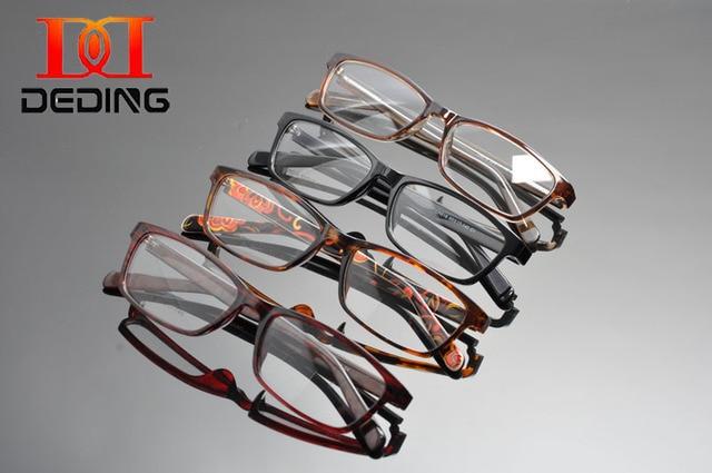 Deding мужская прямоугольные простой прозрачные линзы мода очки 2016 рецепта очков Rx - rx-состоянии 53 - 17 - 140 óculos лас gafsDD1291