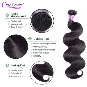 Image 3 - גוף גל חבילות עם סגירה ברזילאי שיער Weave 3 חבילות עם 4*4 סגירת תחרה 100% רמי שיער טבעי חבילות עם סגירה