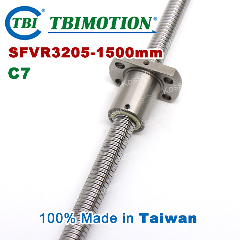 TBI 3205 C7 1500mm ball screw 5mm lead with SFV3205 ballnut of SFV set end machined for high precision CNC diy kit винт tbi sfkr 0802t3d
