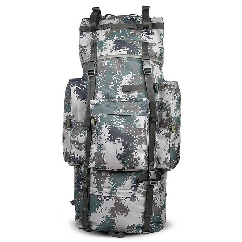 Large outdoor camping tactical backpack Men waterproof bag 65L trekking hiking fishing hunting backpack military travel bag ruck new arrival 38l military tactical backpack 500d molle rucksacks outdoor sport camping trekking bag backpacks cl5 0070