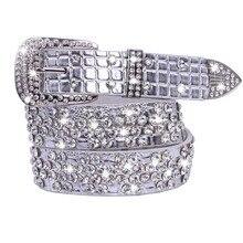 PU belt female fashion waist Bling belt for women cummerbund