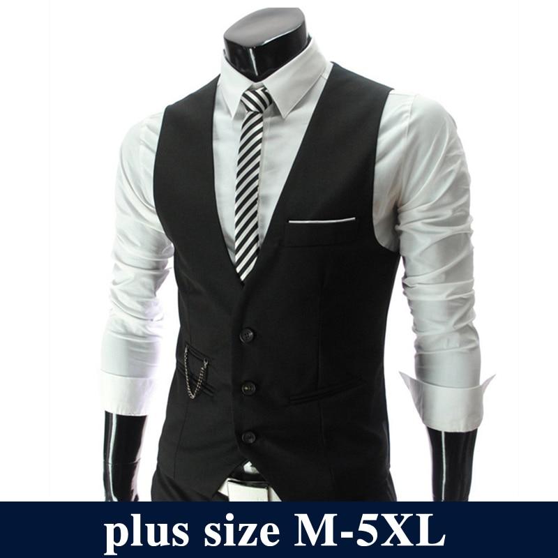 Fashion Suit Vest Men Hot Sale Top Design Formal Dress Vest Brand Clothing Quality Fitness Sleeveless Jacket Waistcoat Men