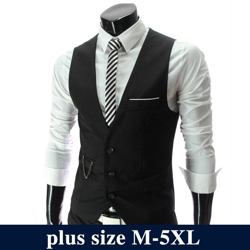 2019 Fashion Suit Vest Men Hot Sale Top Design Formal Dress Vest Brand Clothing Quality Fitness Sleeveless Jacket Waistcoat Men
