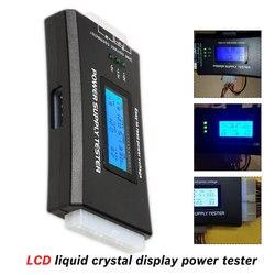 Sprawdź szybkie cyfrowy LCD powerbank Tester komputera 20/24 Pin Tester zasilania wsparcie 4/8/24/ATX 20 Pin interfejs