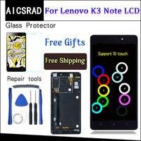 AICSRAD 5,5 дюйма для lenovo K50-T5 K3 Примечание ЖК-дисплей Дисплей планшета Сенсорный экран сборки Замена с рамкой black