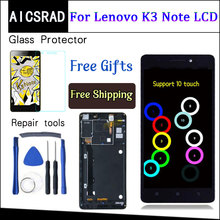 AICSRAD 5.5 inch For Lenovo K50 T5 K3 Note LCD Display Digitizer Touch Screen assembly replacement with frame black