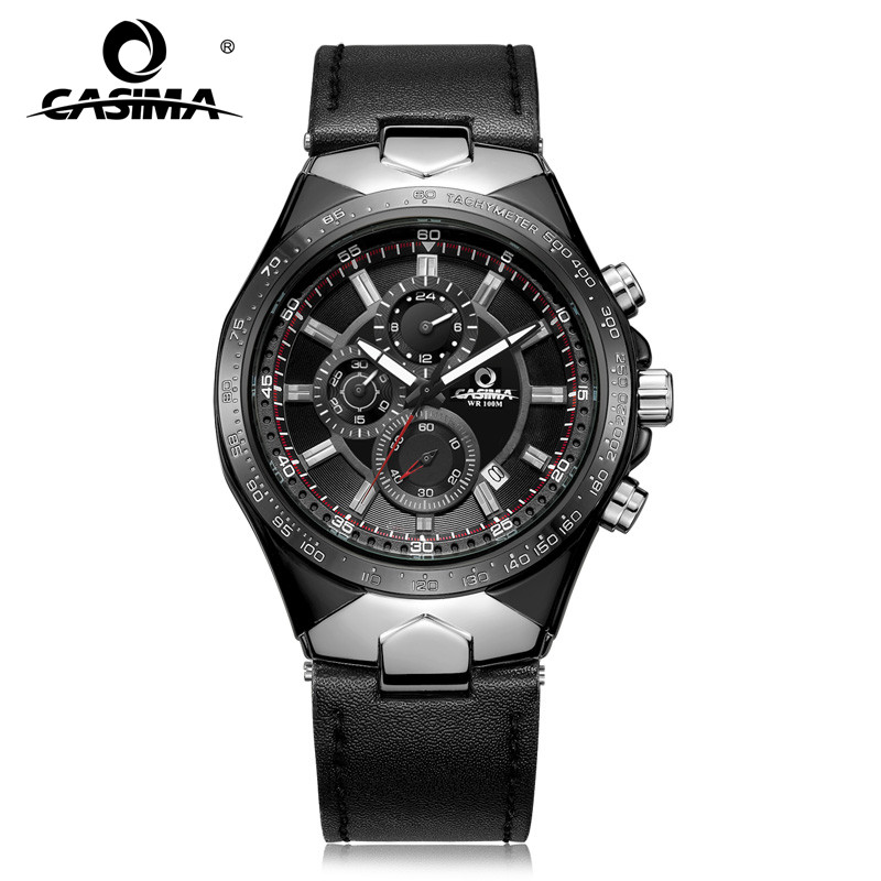 Fashion Luxury brand watches men sports table luminous multifunction racing mens quartz wrist watch waterproof 100m CASIMA #8880