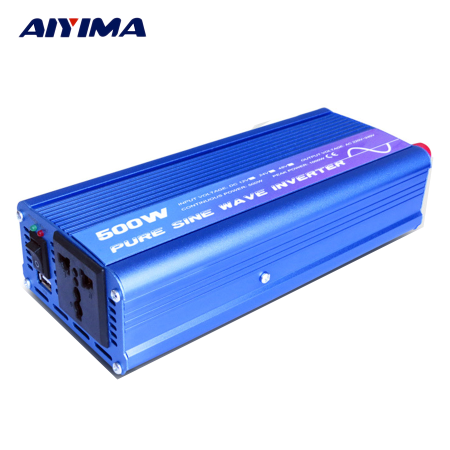 цена на 1Pcs New 12v To 220v Inverter Power 500W Pure Sine Wave Transformer Direct-selling Vehicle Household