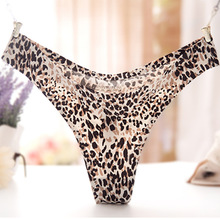 Sexy Leopard Seamless Tgirl Shemale Panties with G String