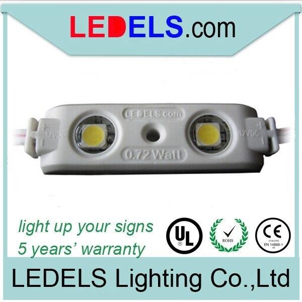 100 шт./лот знаков письма канала свет 2 светодиодный модуль 5050 светодиоды 44 люмен 0.72 Вт водонепроницаемый светодиодный модуль