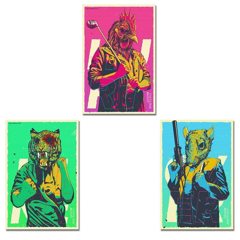 Художественный шелковый или холщовый принт Горячая линия Майами Горячая игра постер 13x20 24x36 дюймов для украшения комнаты 004|Рисование и каллиграфия| | АлиЭкспресс
