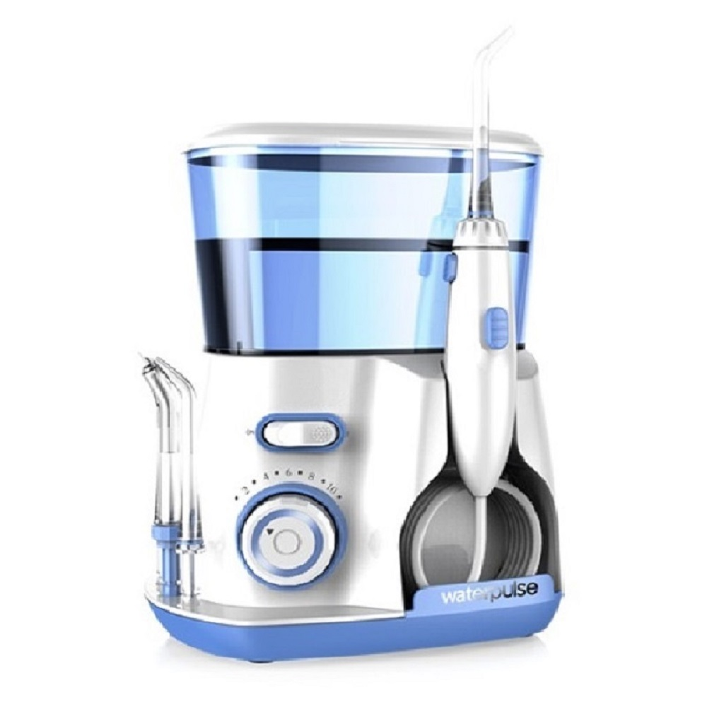 Dental Water Flosser + Quality Oral Irrigator with 7Pcs jet tip & 600ML Water Tank for dental hygiene & tooth care