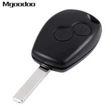 2 Button Remote Control Key Fob Cover Case For Renault Clio Twingo 433MHz W/ PCF7947 Chip Replacement Keyless Remote Transmitter недорого