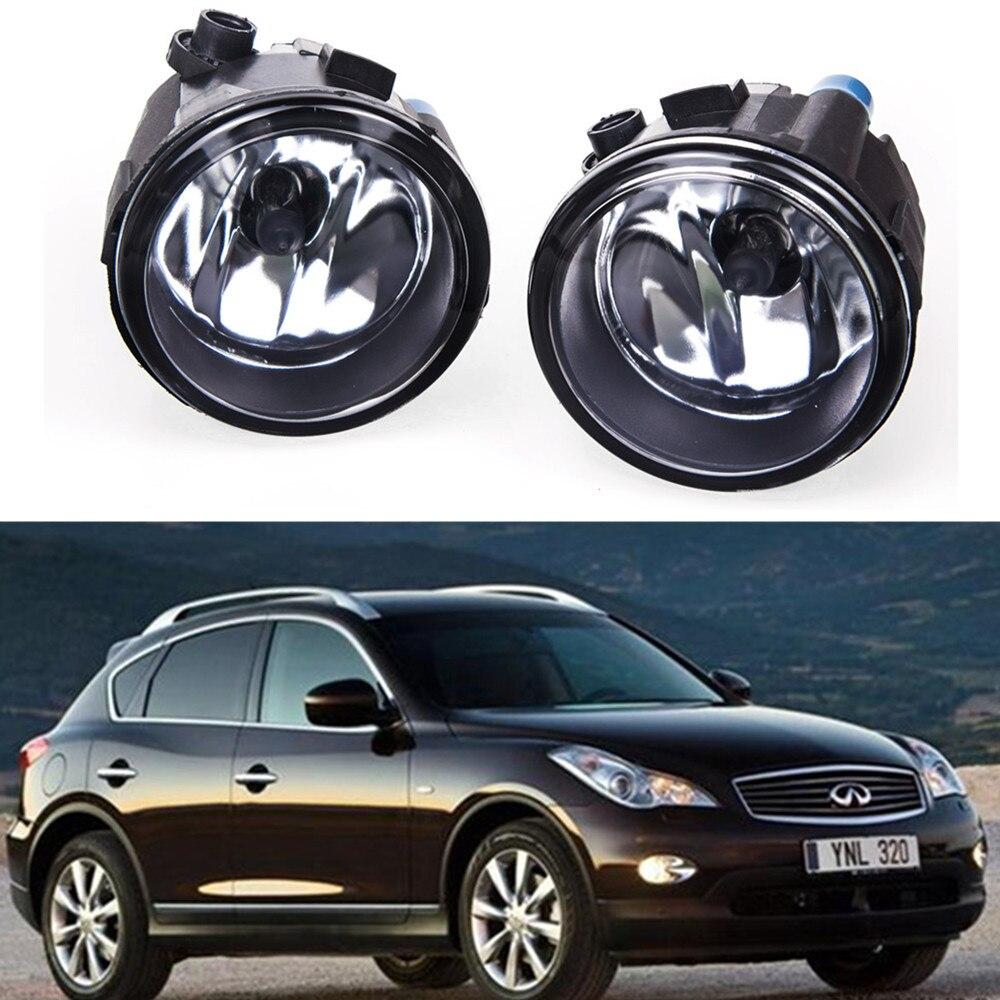 For INFINITI EX25 EX35 EX37 FX30D  2008-2012 Car styling Fog lights halogen lamps 1SET 26150-8990B for suzuki sx4 gy hatchback 2006 2012 car styling fog lamps halogen fog lights 1set