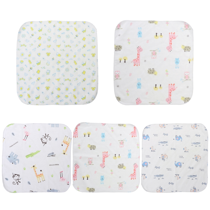Baby Towel 25x25cm Thin Blend Cotton Soft Wipe Food Washing Face Square Children