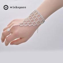 America and Europe pop exaggerated grand wedding party birthday present geometric fashion women bracelet
