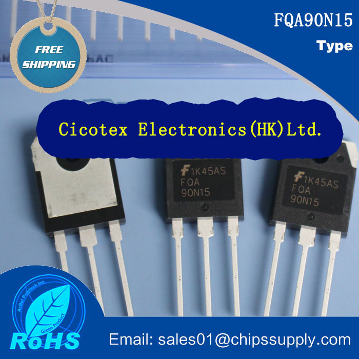 2pcs Electronic components FQA90N15 TO-3P N-Channel Power MOSFET N-CH 150V 90A TO-247