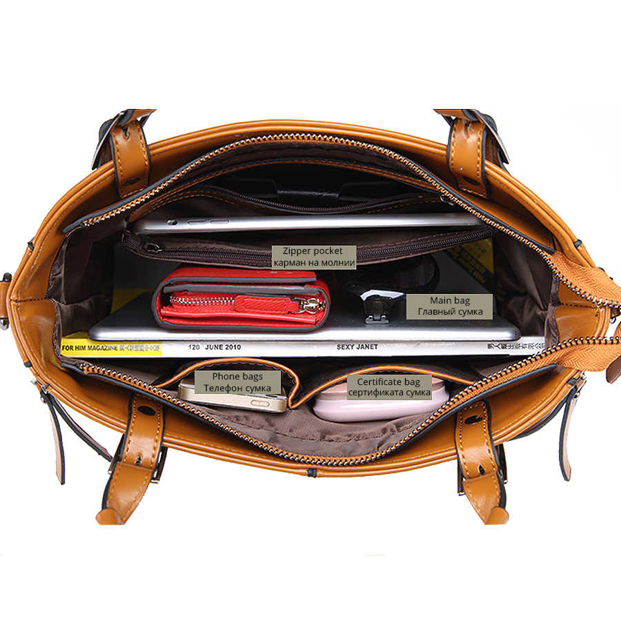 100% женские сумки из натуральной кожи 2019 Новая модная сумочка коричневая Женская сумка винтажная сумка-мессенджер офисный женский чемодан