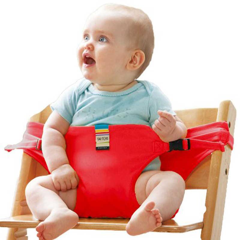 เด็กทารกแบบพกพาเก้าอี้ทารกรับประทานอาหารสูงรับประทานอาหารฝาครอบที่นั่งความปลอดภัยเข็มขัดเก้าอี้พับ Feeding สายคล้อง