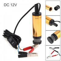 Aluminum Alloy Car Electric Submersible Pump DC 12V Fuel Water Oil Transfer Pump With 2
