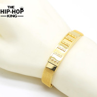 New Arrival Fashion Fashion Gold Plated Men 10mm Width Stainless Steel Bracelet Bangles Jewelry High Quality