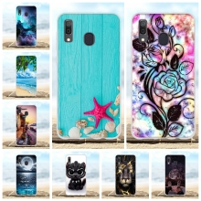 For Samsung Galaxy A20 A30 Cover Thin Soft TPU Silicone Case Sea Star Pattern Capa