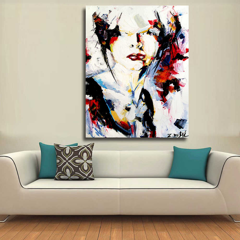 Woman Art painting zlatko music modern art prints Paintings Wall Pictures For Living Room Art The List Paintin