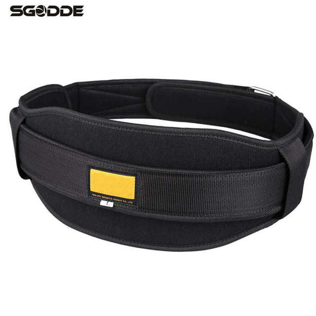 Body Building Fitness Adjustable Weight Lifting Belt Gym Wide Back Waist Support Protect Exercise Training Belt