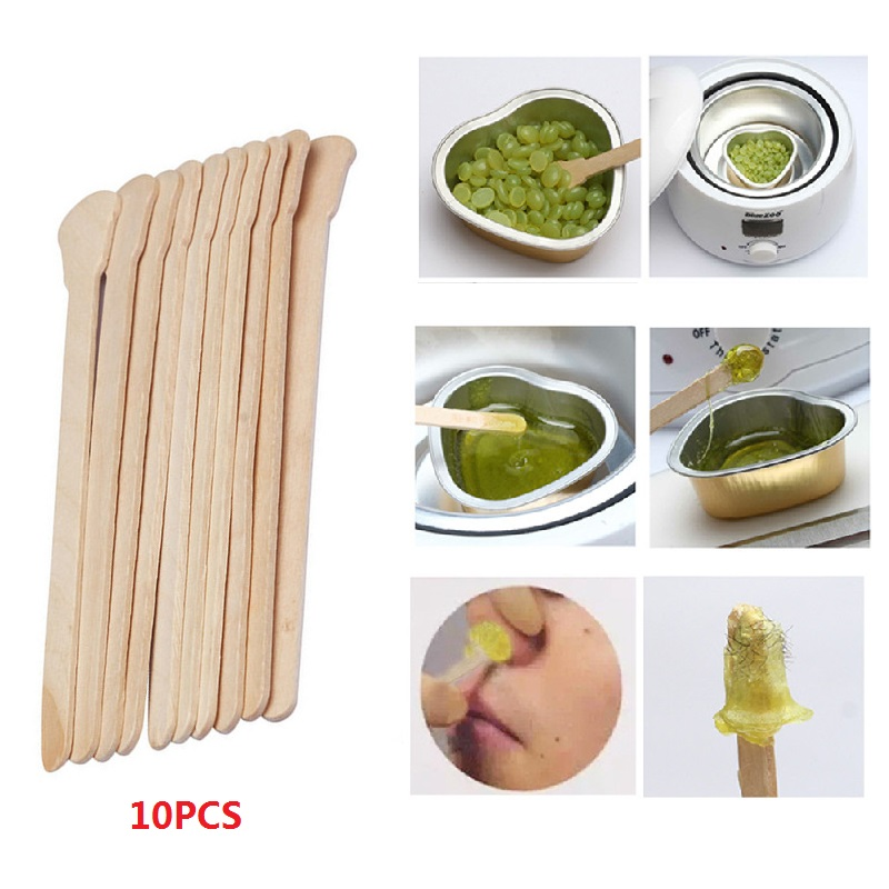 Wholesale 10pcs/lot Disposable Wooden Body Hair Removal Sticks Waxing Tongue Depressors Spatula For Men Women TSLM2