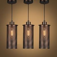 black vintage industrial pendant lights nordic retro lamp iron lampshade loft metal cage dining room Countryside pendant lamp