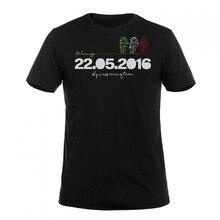 Valentino Rossi VR46 Mugello VR 46 t shirt Sport Moto GP Racing Team Camiseta de Los Hombres